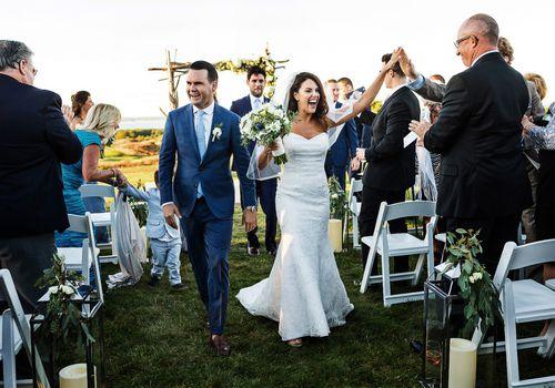 Bridgehampton Golf Club Wedding With Bride and Groom