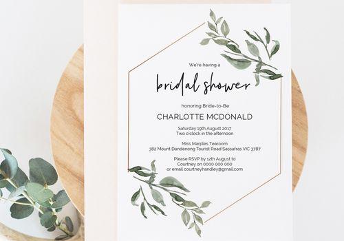 Bridal shower invitation.