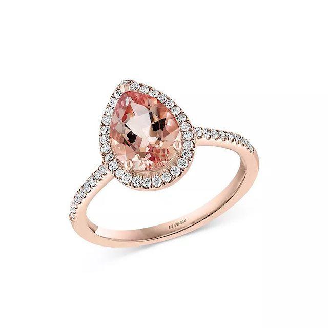 Bloomingdale's Morganite & Diamond Ring