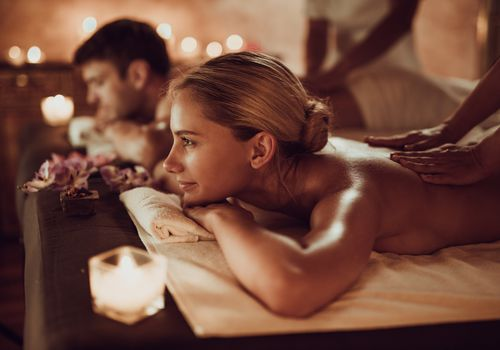 couple getting a massage together