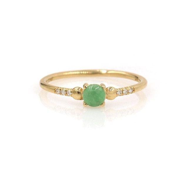 Jennie Kwon Jadeite Diamond Ring