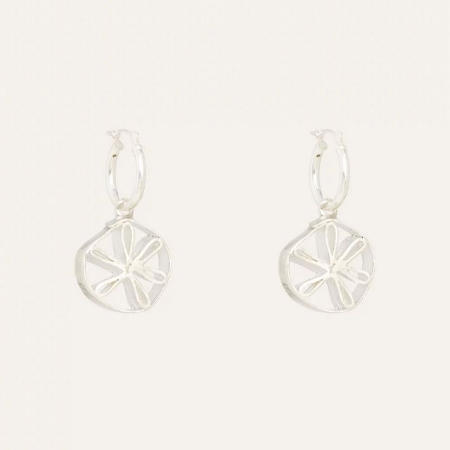 LUXEREE MADE Petal Silver and Glass Beaded Earrings