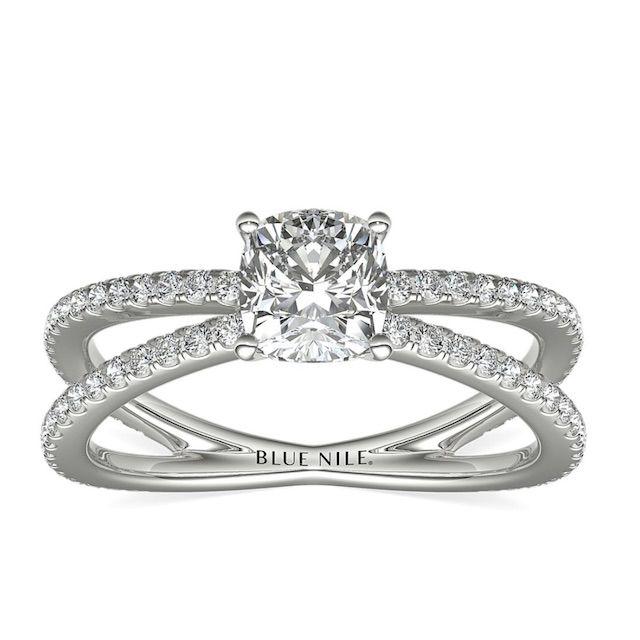 Blue Nile Studio Empress Diamond Engagement Ring