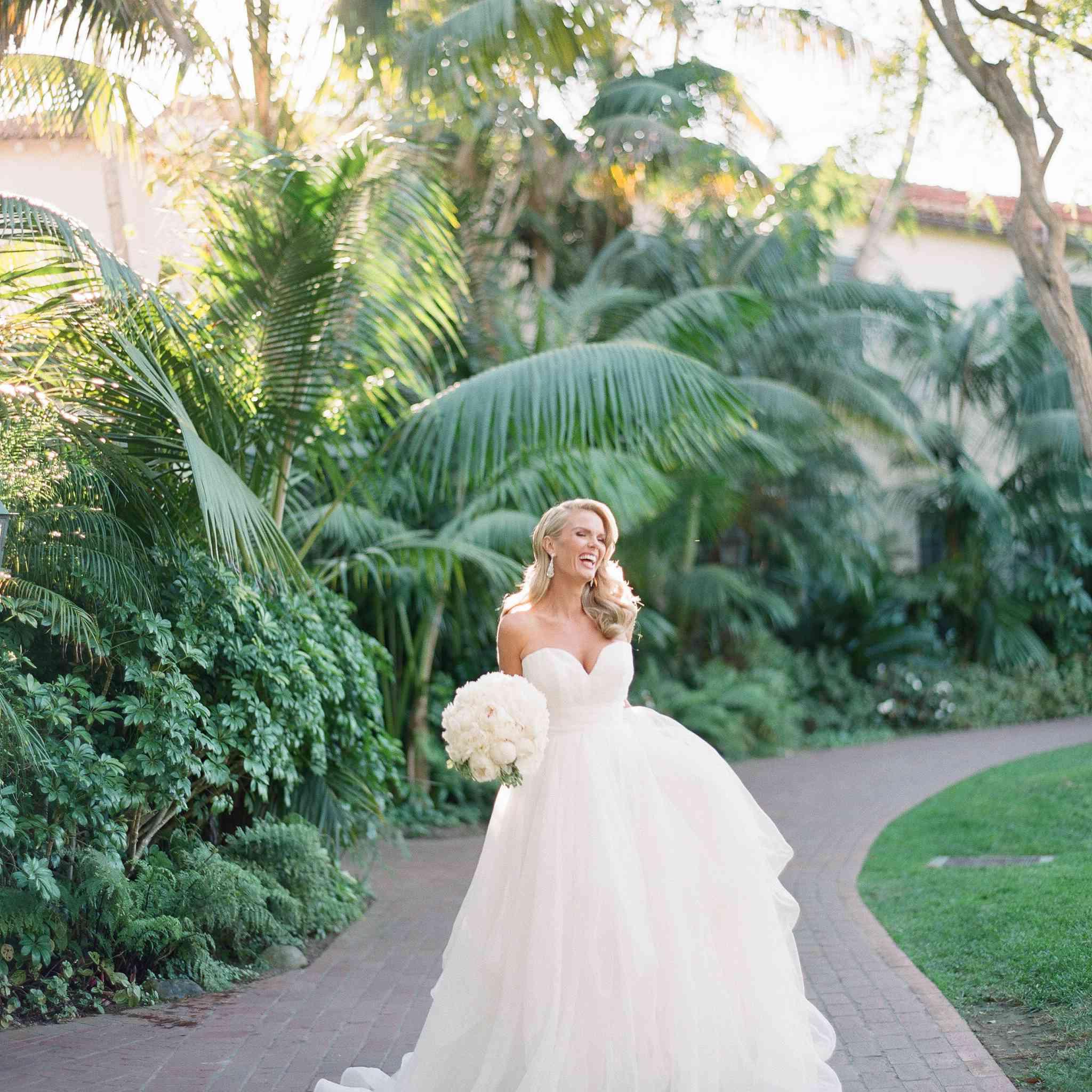 bride in timeless dress