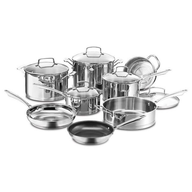Cuisinart Professional Series 13-Piece Stainless Steel Cookware Set