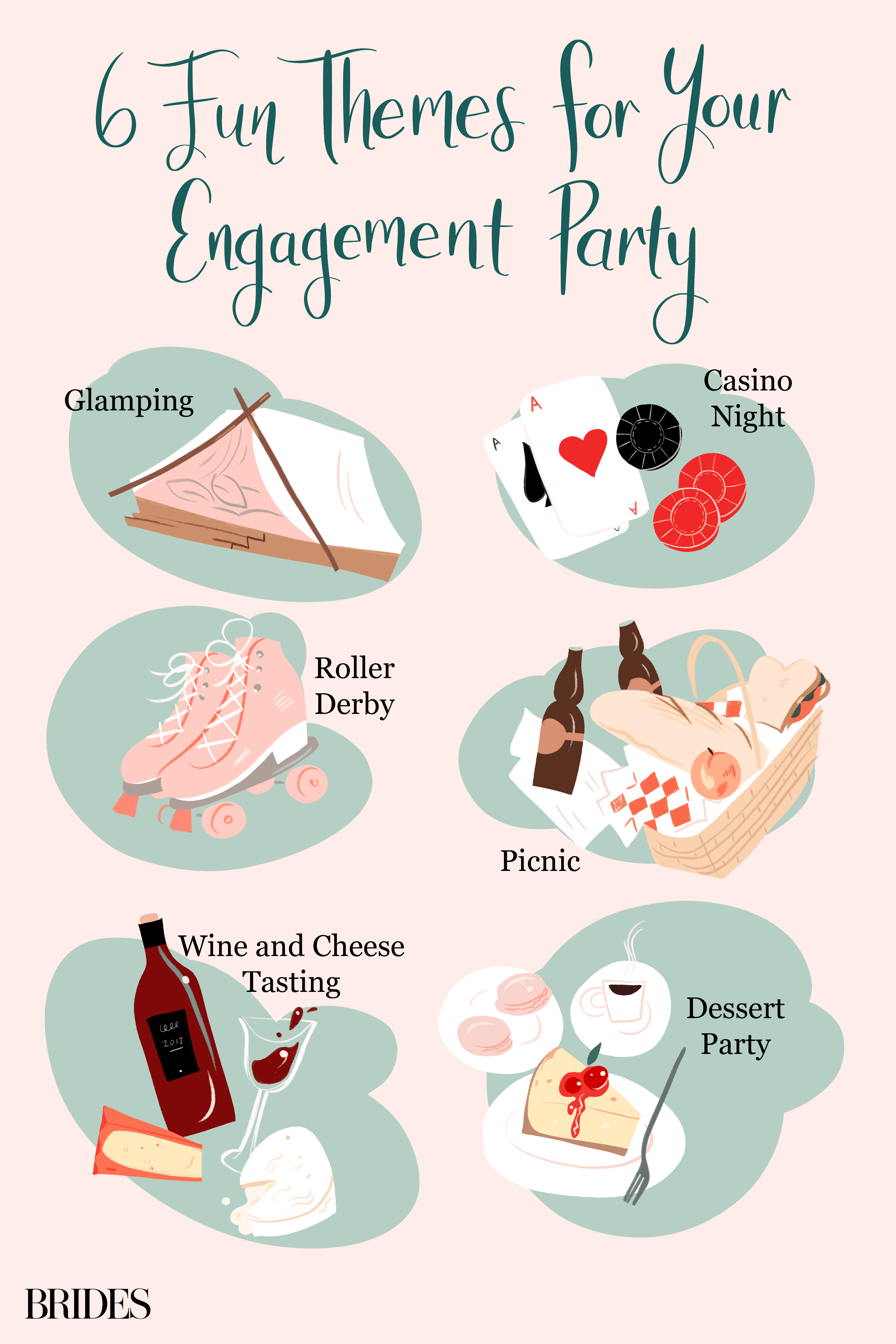 6 Fun Themes for Your Engagement Party