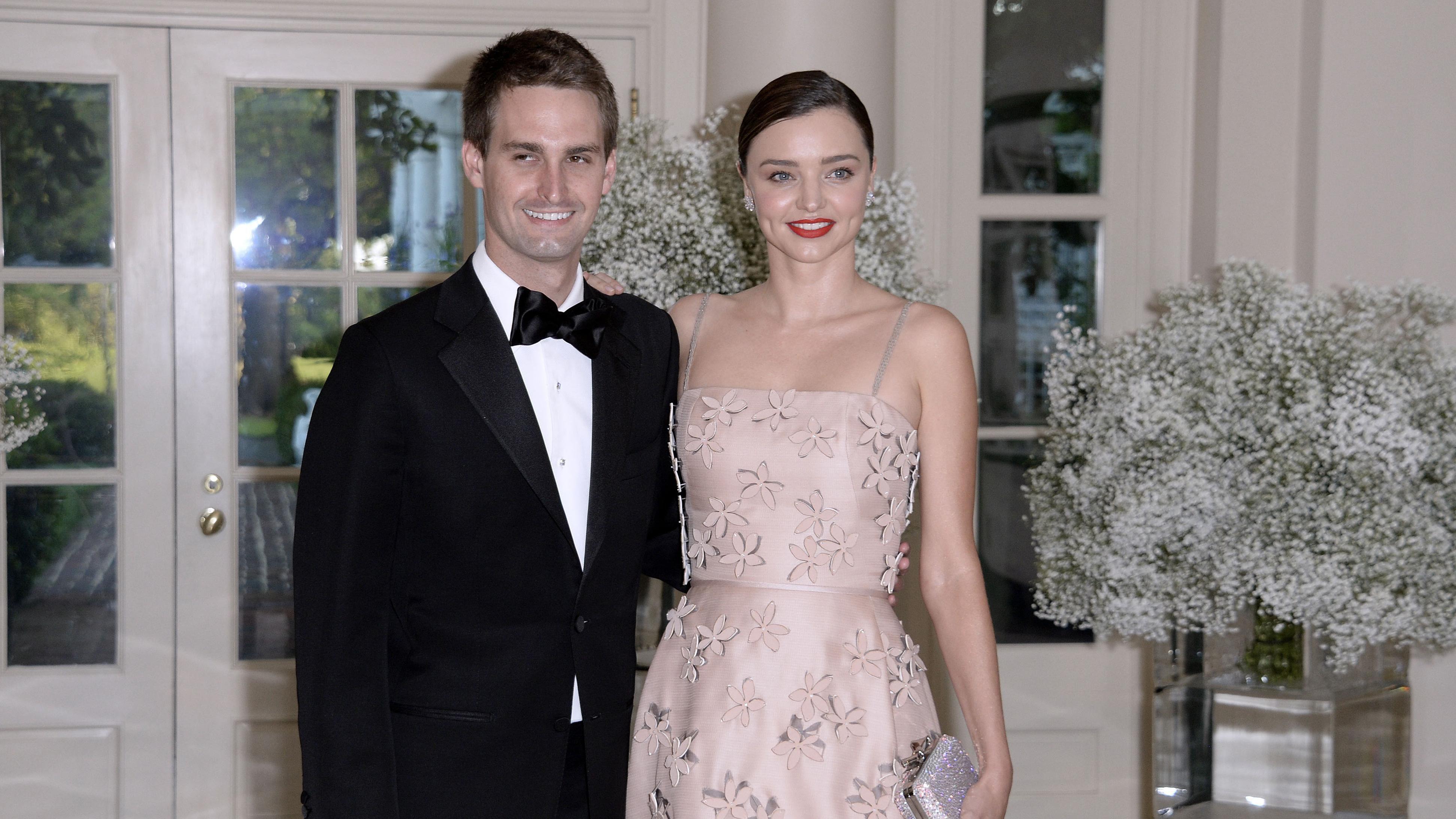 Miranda Kerr S Husband Evan Spiegel Is On A Post Wedding Bro Trip