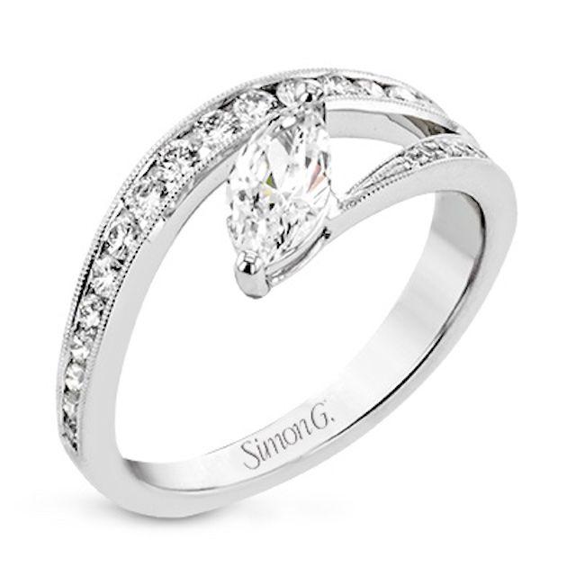 Simon G. Lightning Bolt Engagement Ring