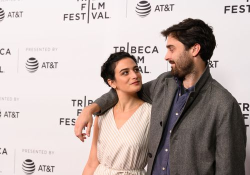 Jenny Slate and Ben Shattuck at the 2019 Tribeca Film Festival.