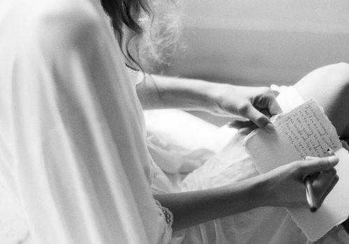 bride writing vows