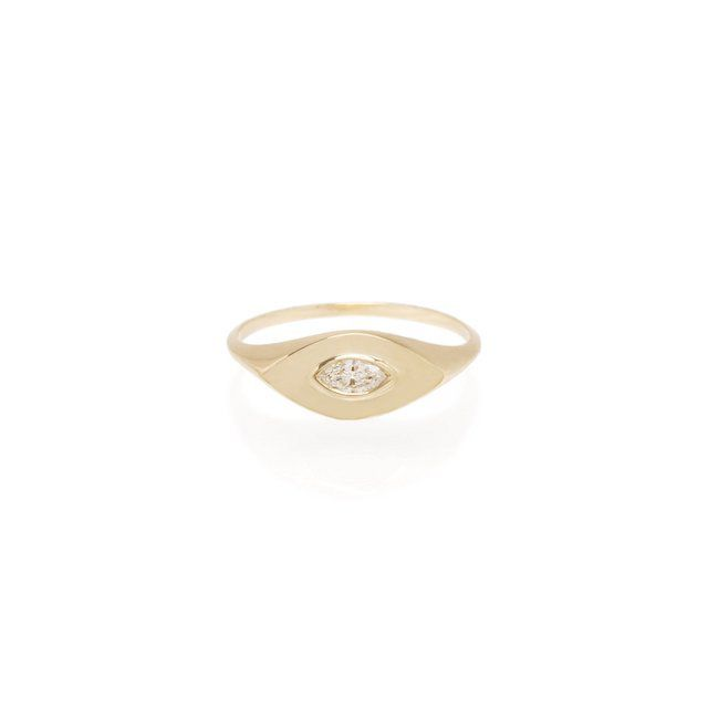 Zoë Chicco Marquise Diamond Signet Ring