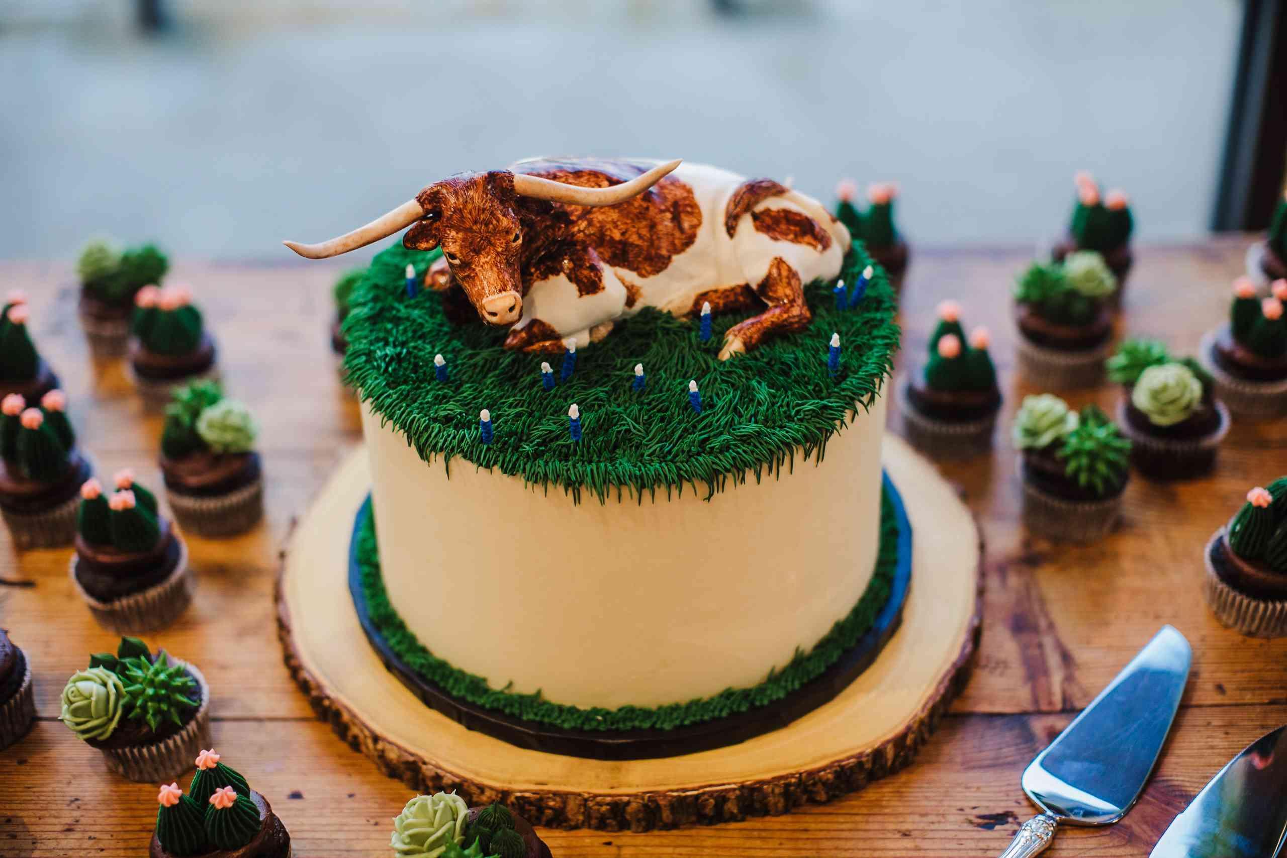 cow groom's cake