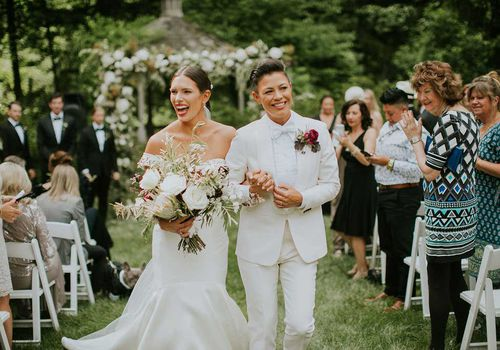 Meaghan Garland and Kiyomi McCloskey were married at Whitney Houston's former estate in New Jersey.