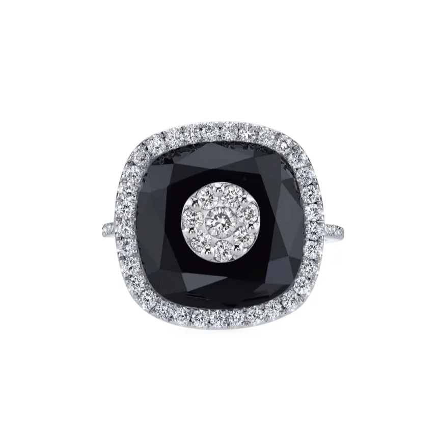Bhansali Cushion-Cut Ring With Diamonds