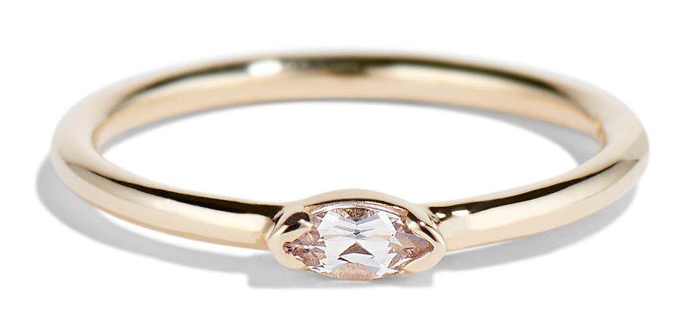 Bario Neal Nikko Mini Morganite Marquise Ring