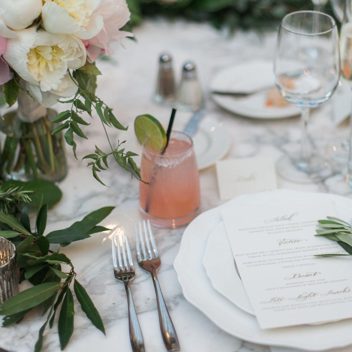Real wedding table setting
