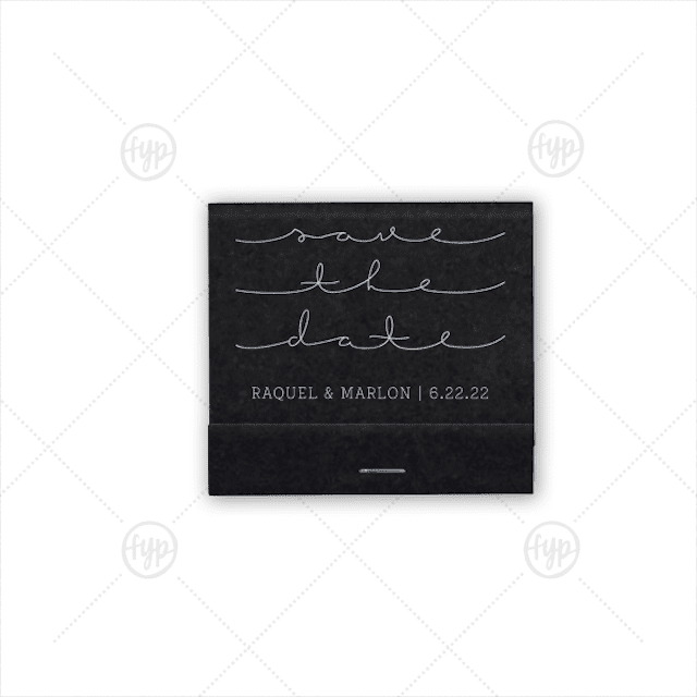 Save the Date Matchbook