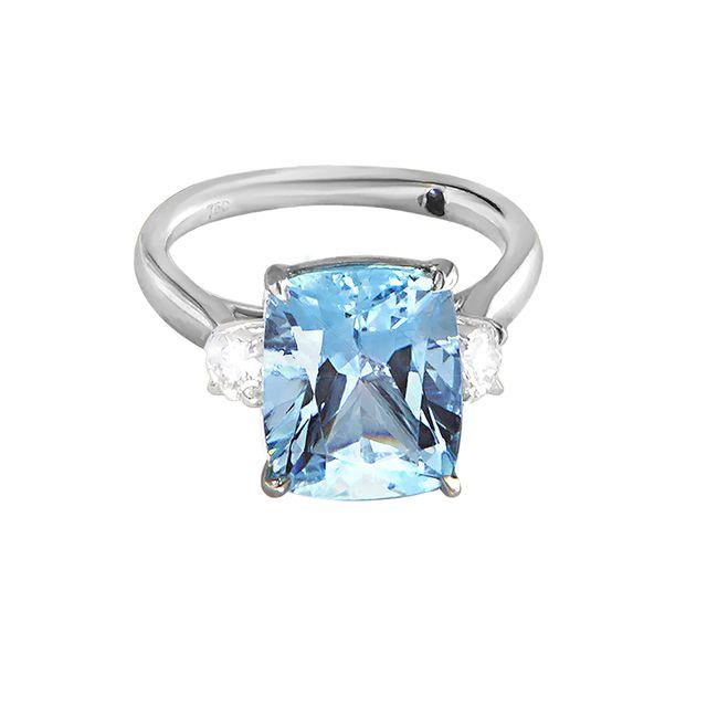 Soho Gem Aquamarine Three Stone Ring