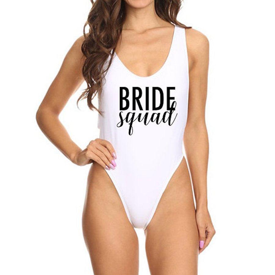 Bride Shirt Bride to Be Swimsuit Team Bride Missy And Plus Size One Piece Swim Suit Bachelorette Parties Bride Bathing Suit Bride Honeymoon Bride Swimwear