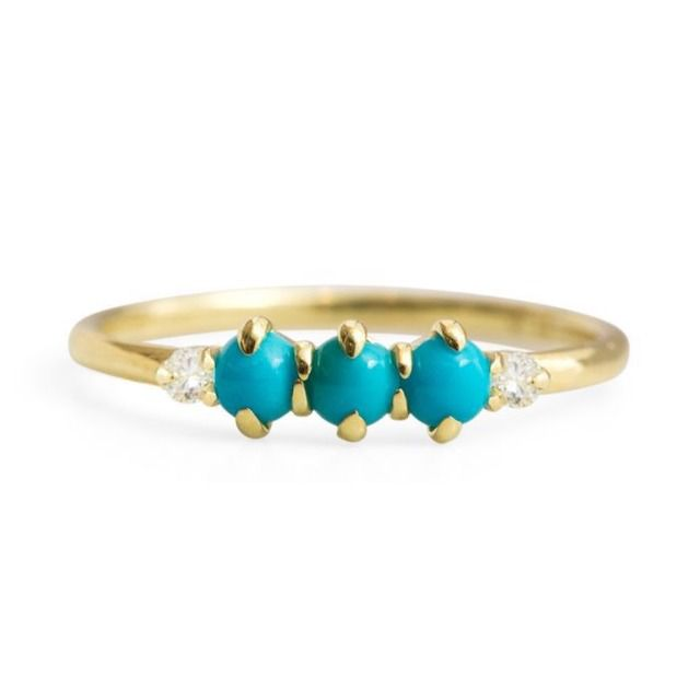Ila Felicia Turquoise and Diamond Ring