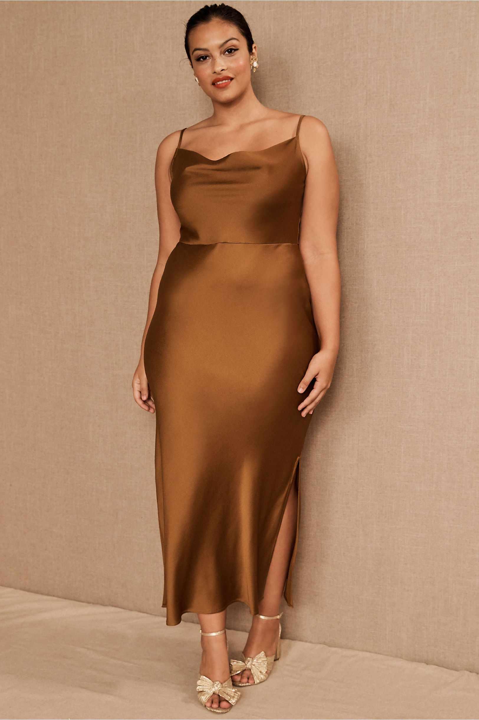 BHLDN Cali Satin Midi Dress, $168