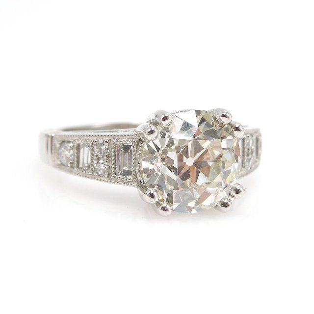 A.J. Martin Old European Cut Diamond Engagement