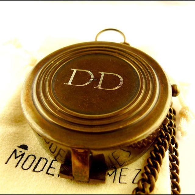 Engraved Brass Compass