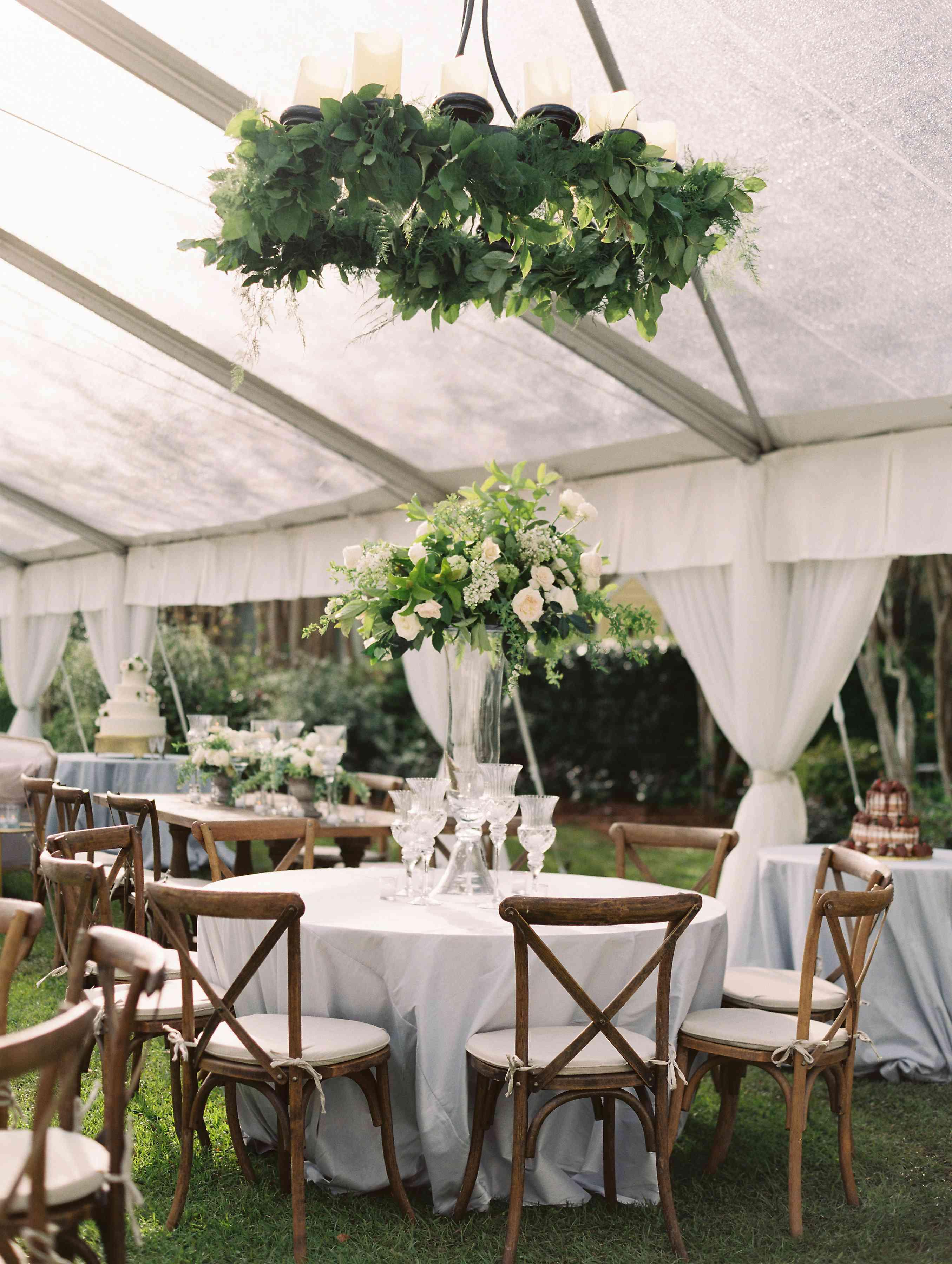 Reception setup with greenery