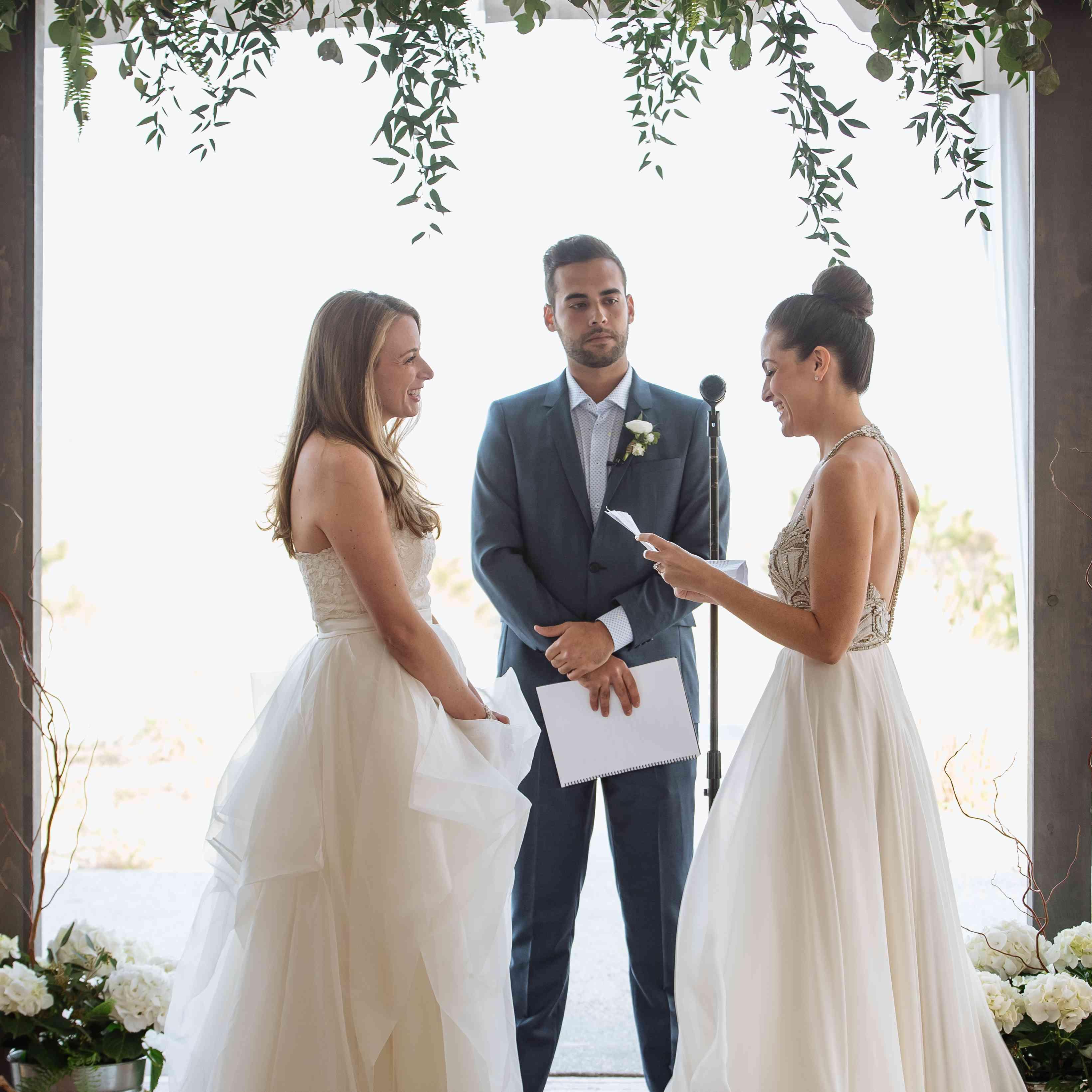 Brides During Ceremony