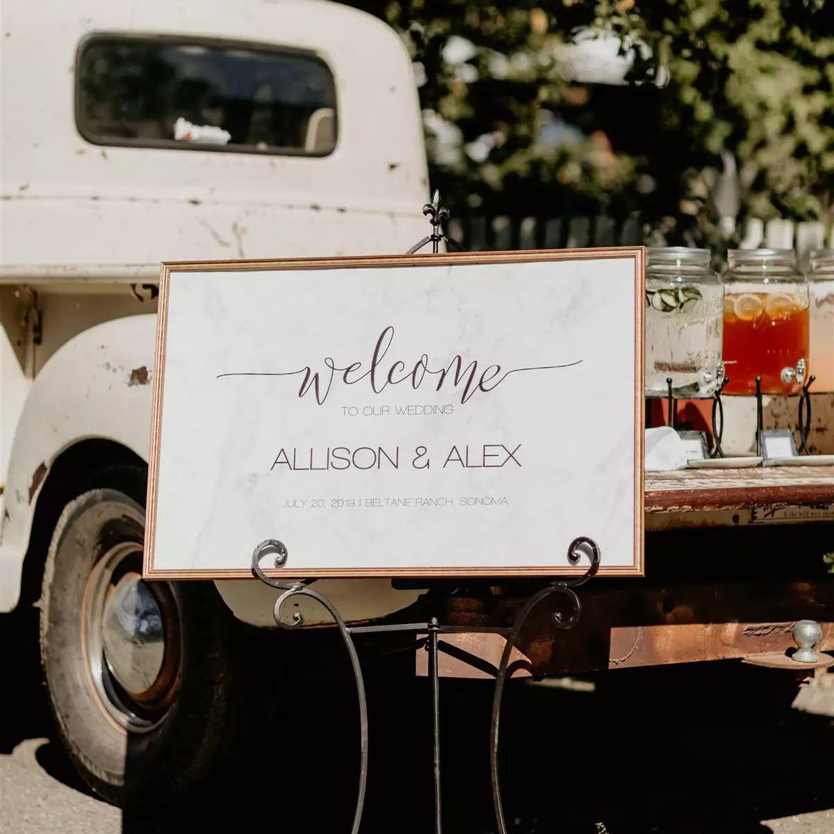 wedding welcome drinks
