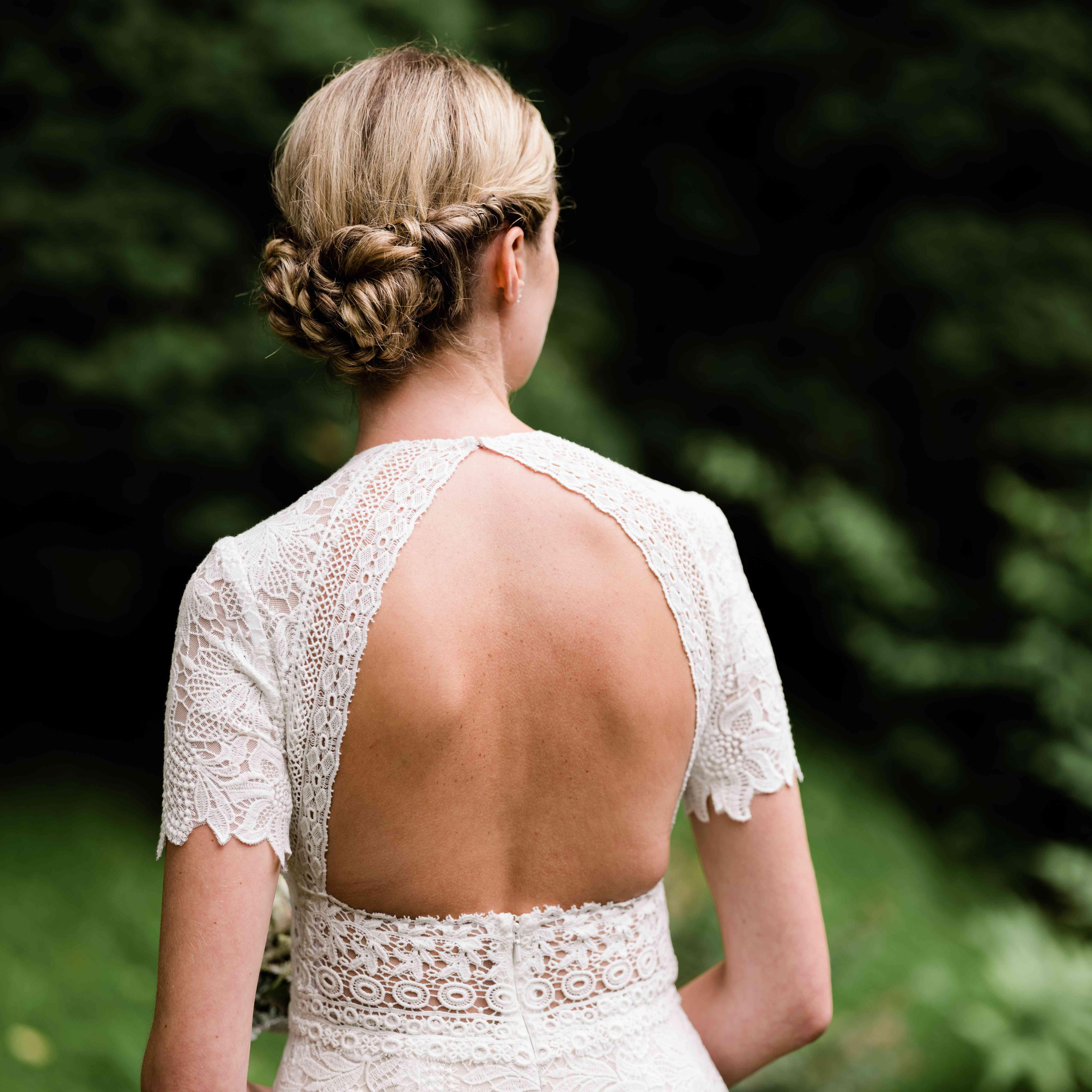 back cut out wedding dress