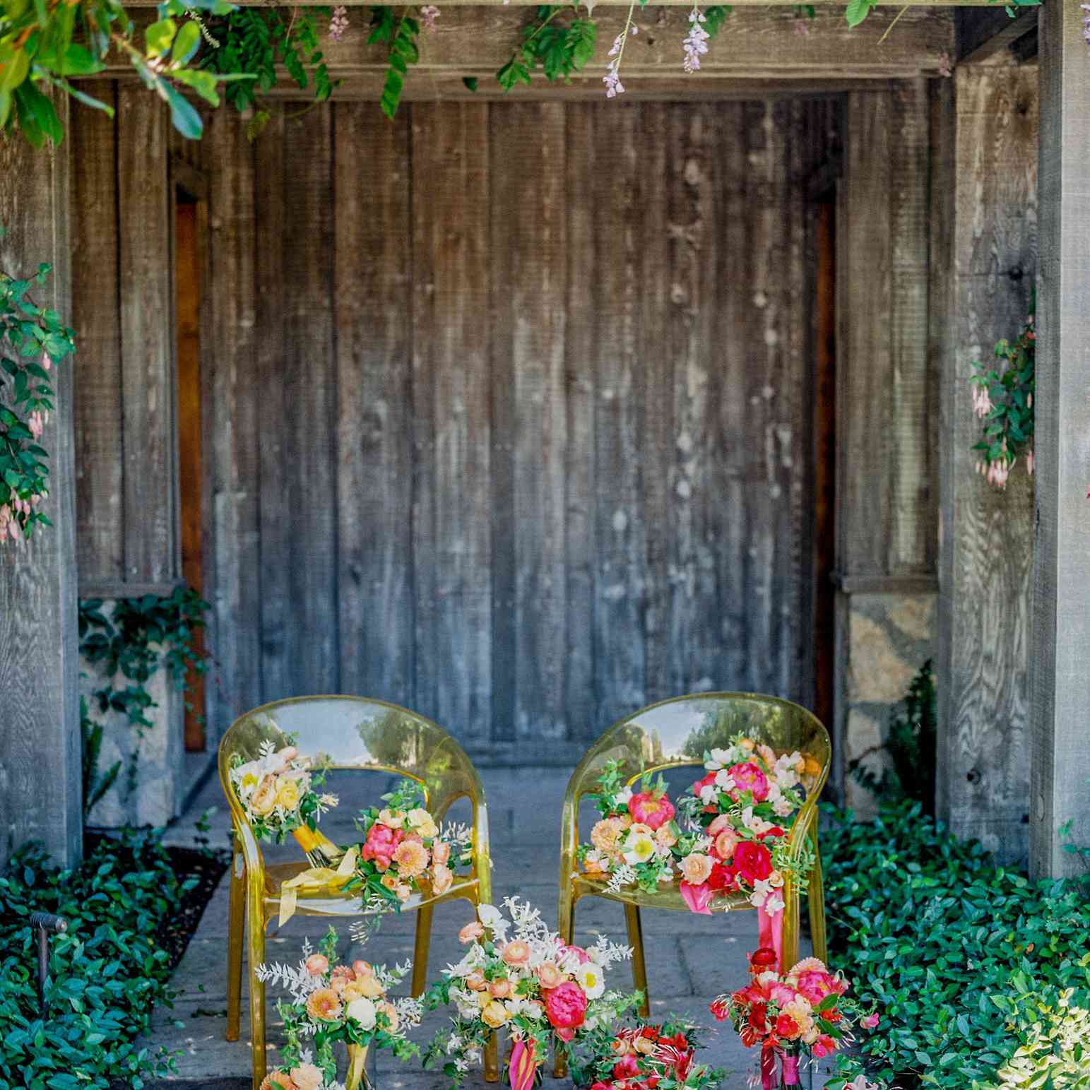 bright florals and chairs