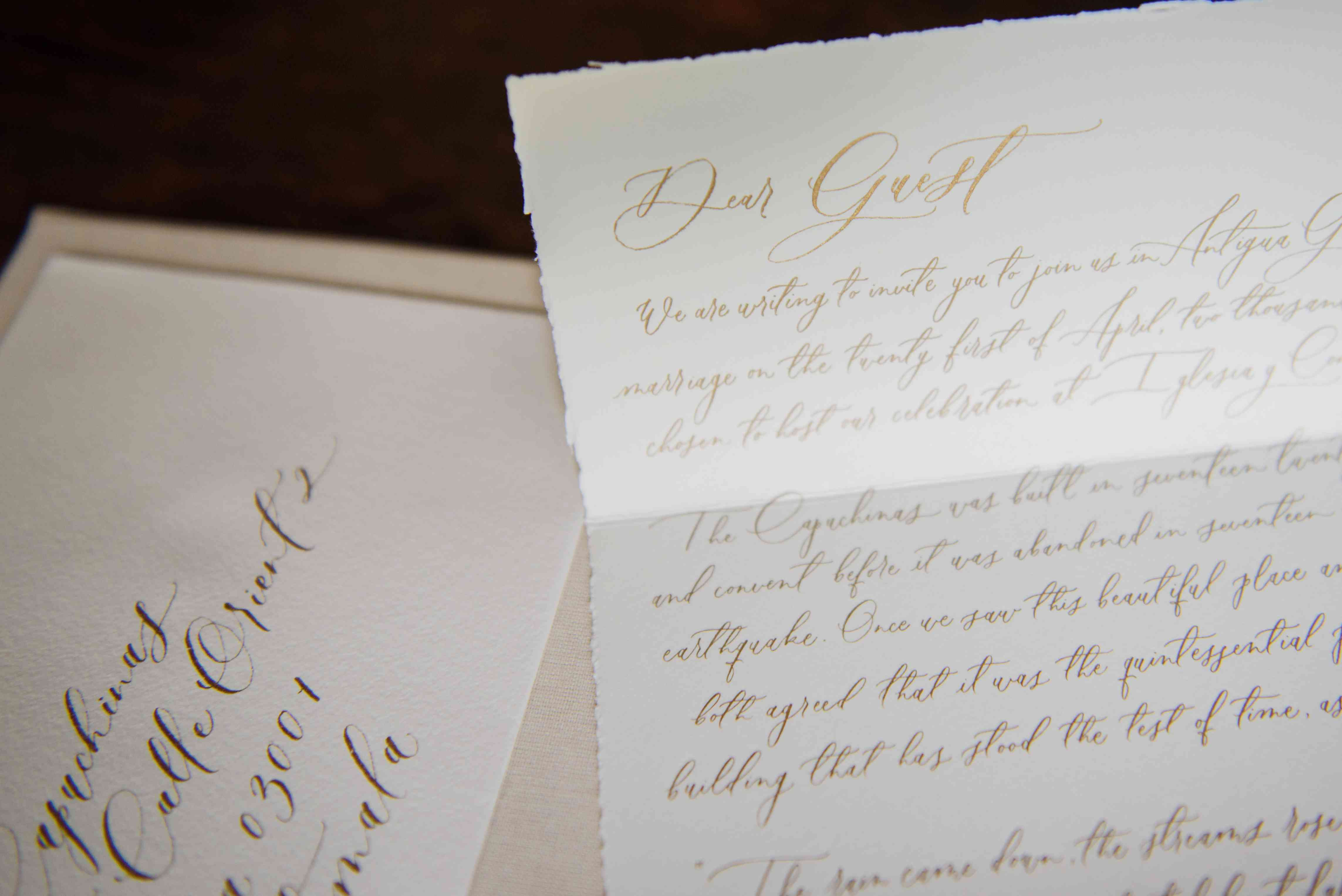 letter to guests