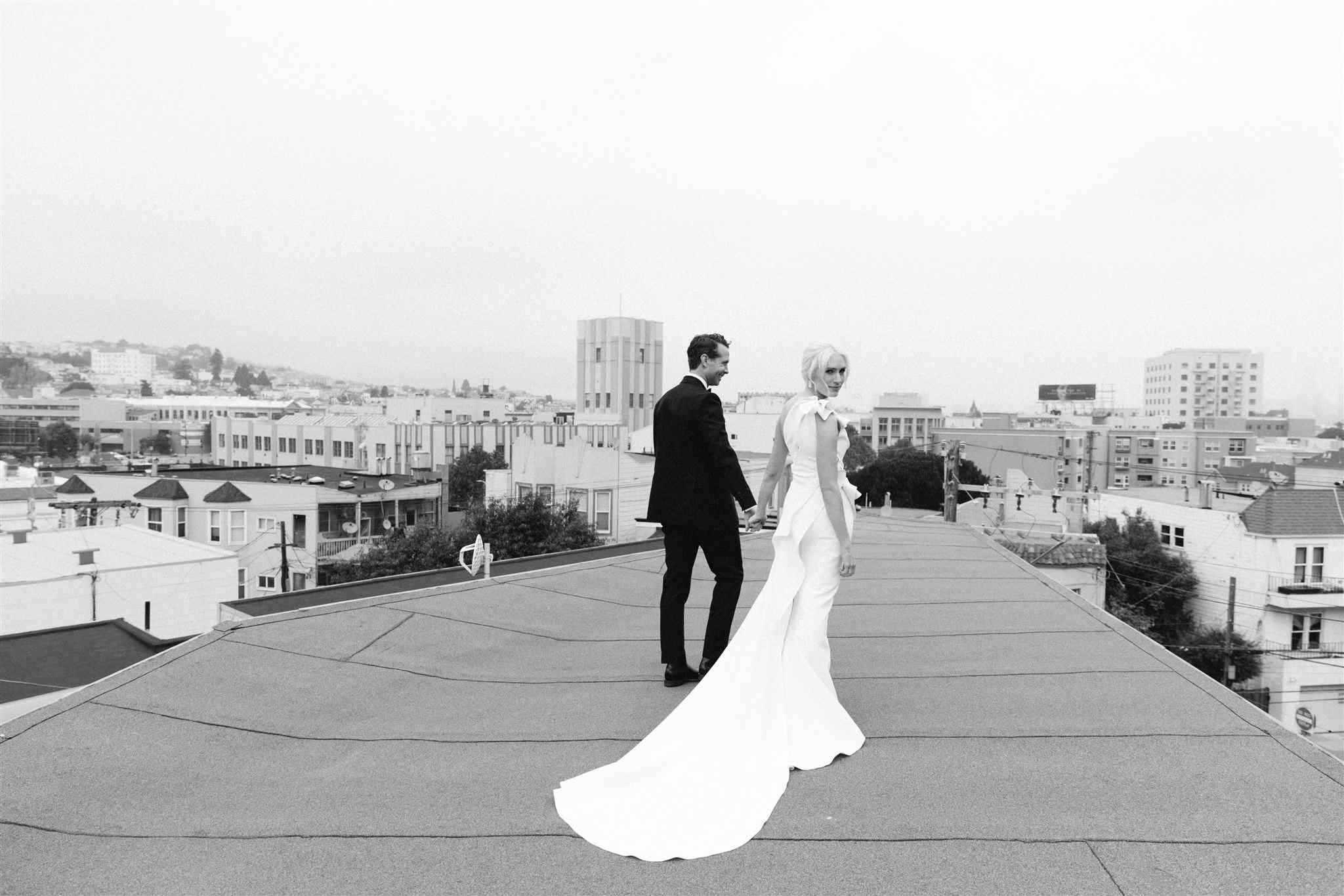 Couple portrait on the roof