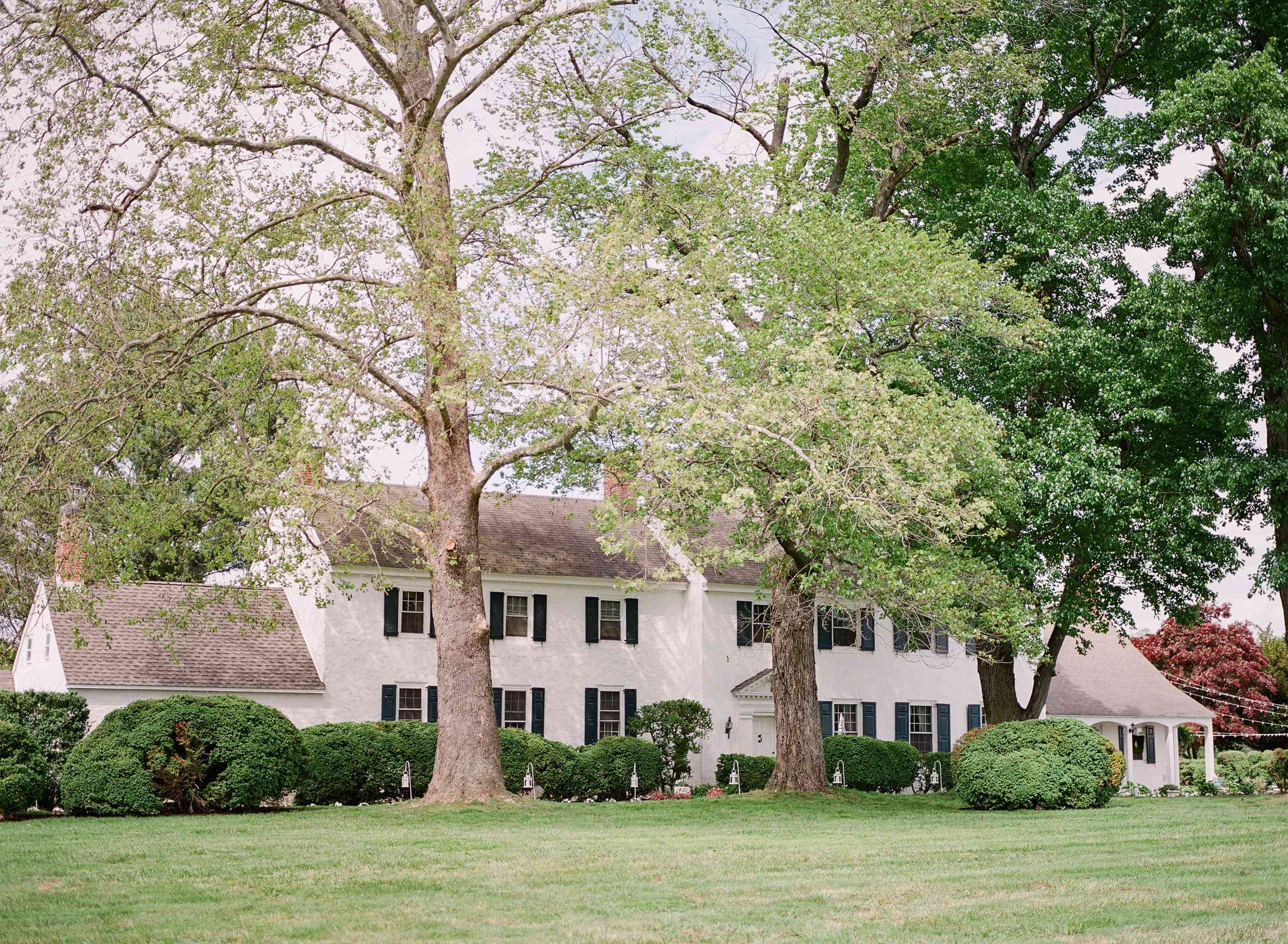 Shot of farmhouse