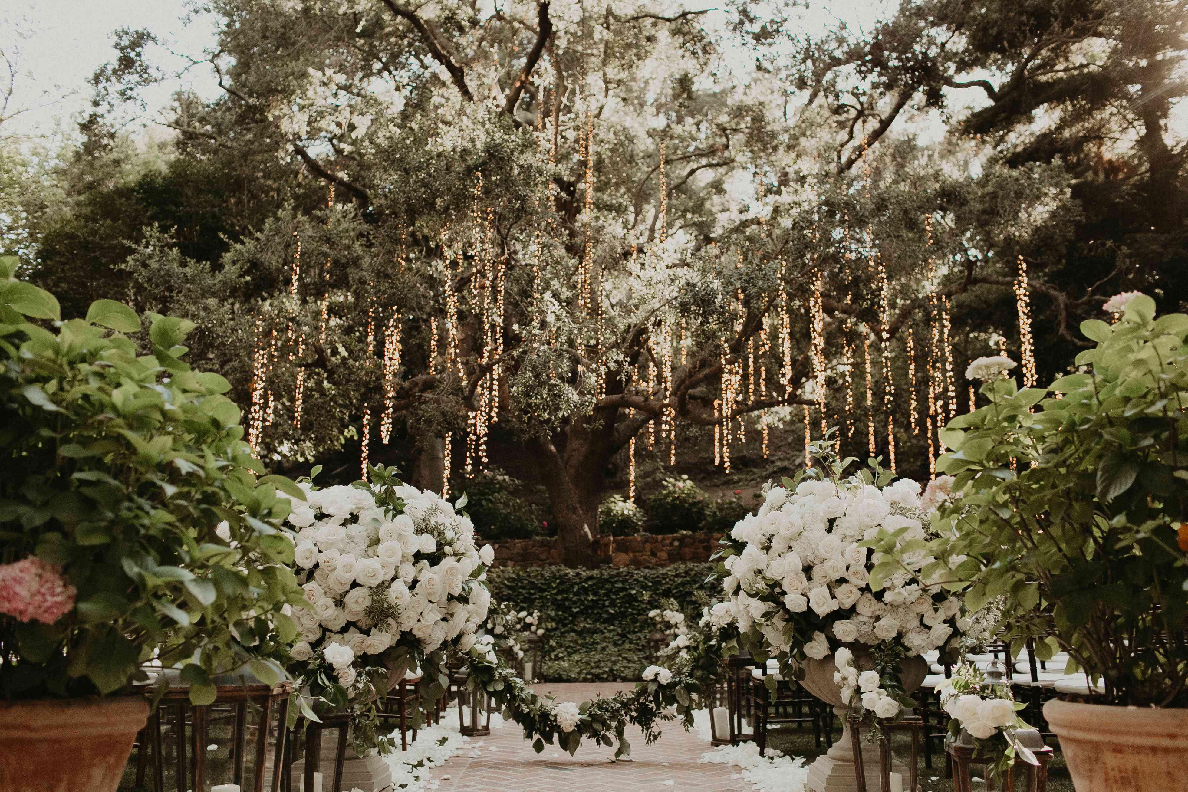 Baker Mayfield Wedding, ceremony decor