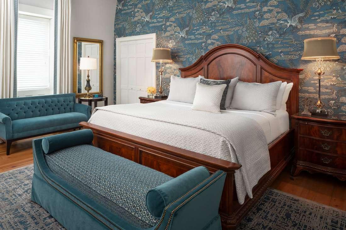 bedroom in Savannah's Hamilton Turner Inn