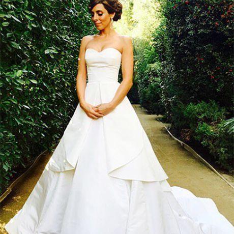 Sopranos star Jamie Lynn Sigler marries Cutter Dykstra in Oscar de la Renta, 2016