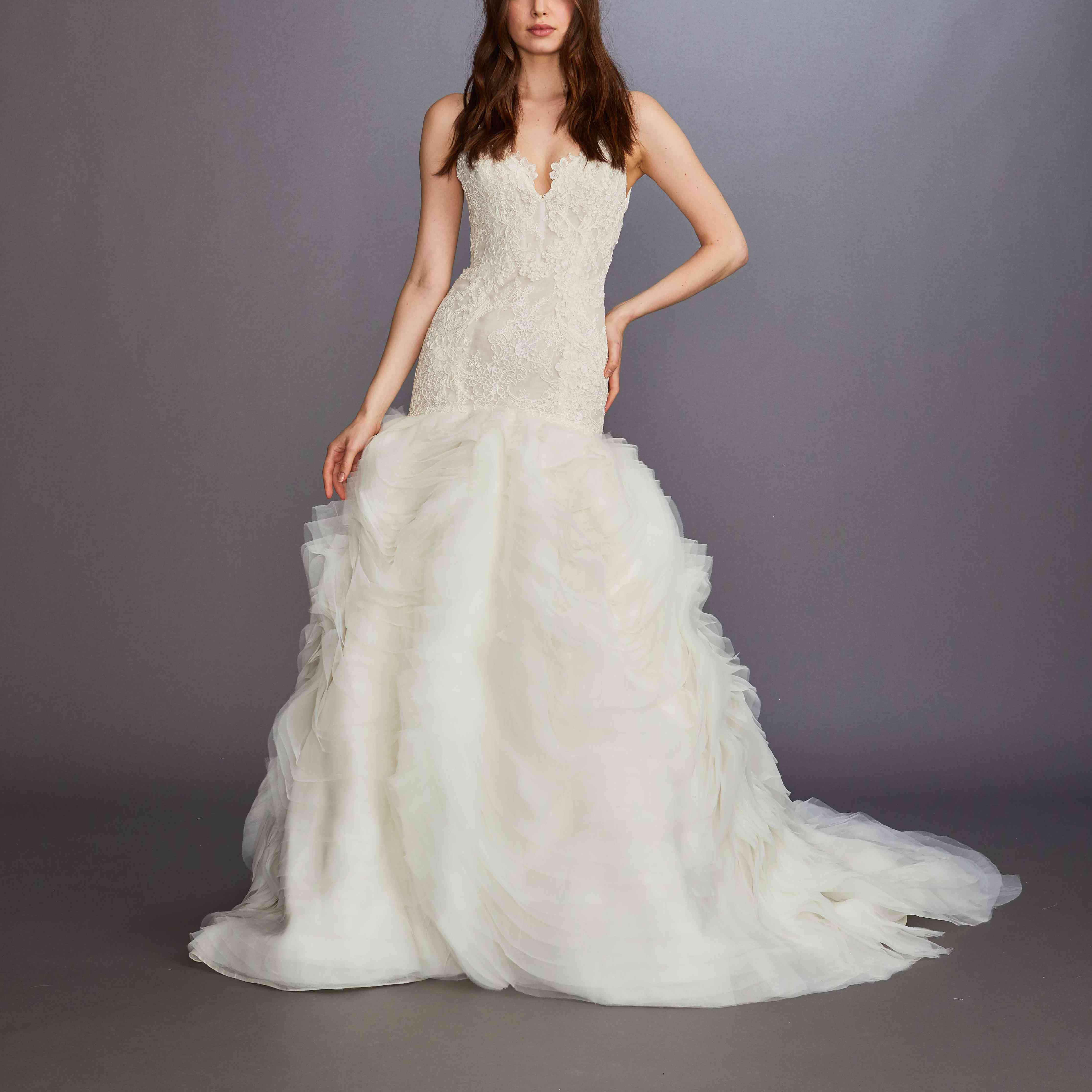 Kassia fit-and-flare wedding dress by Lazaro