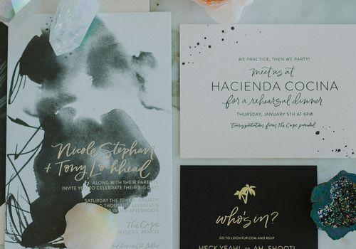 Black and White Invitation Suite