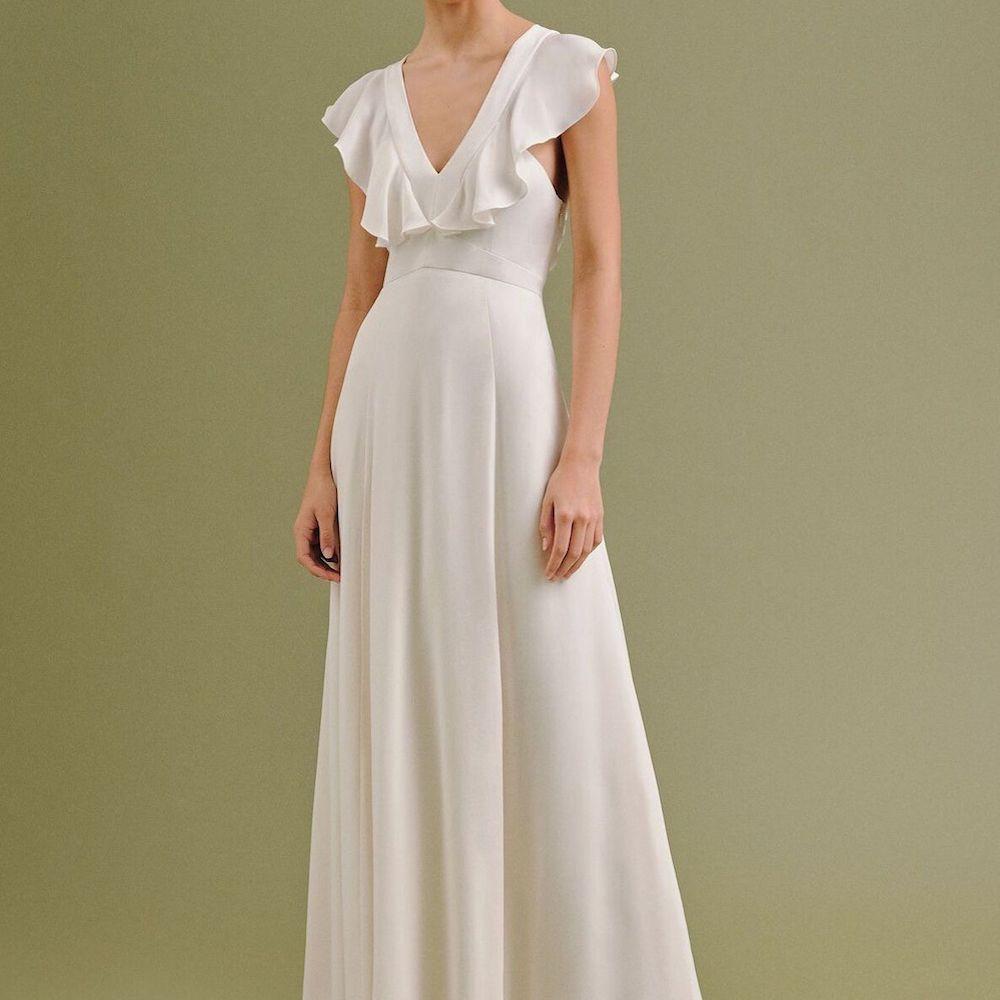 Whistles Eve Silk Wedding Dress