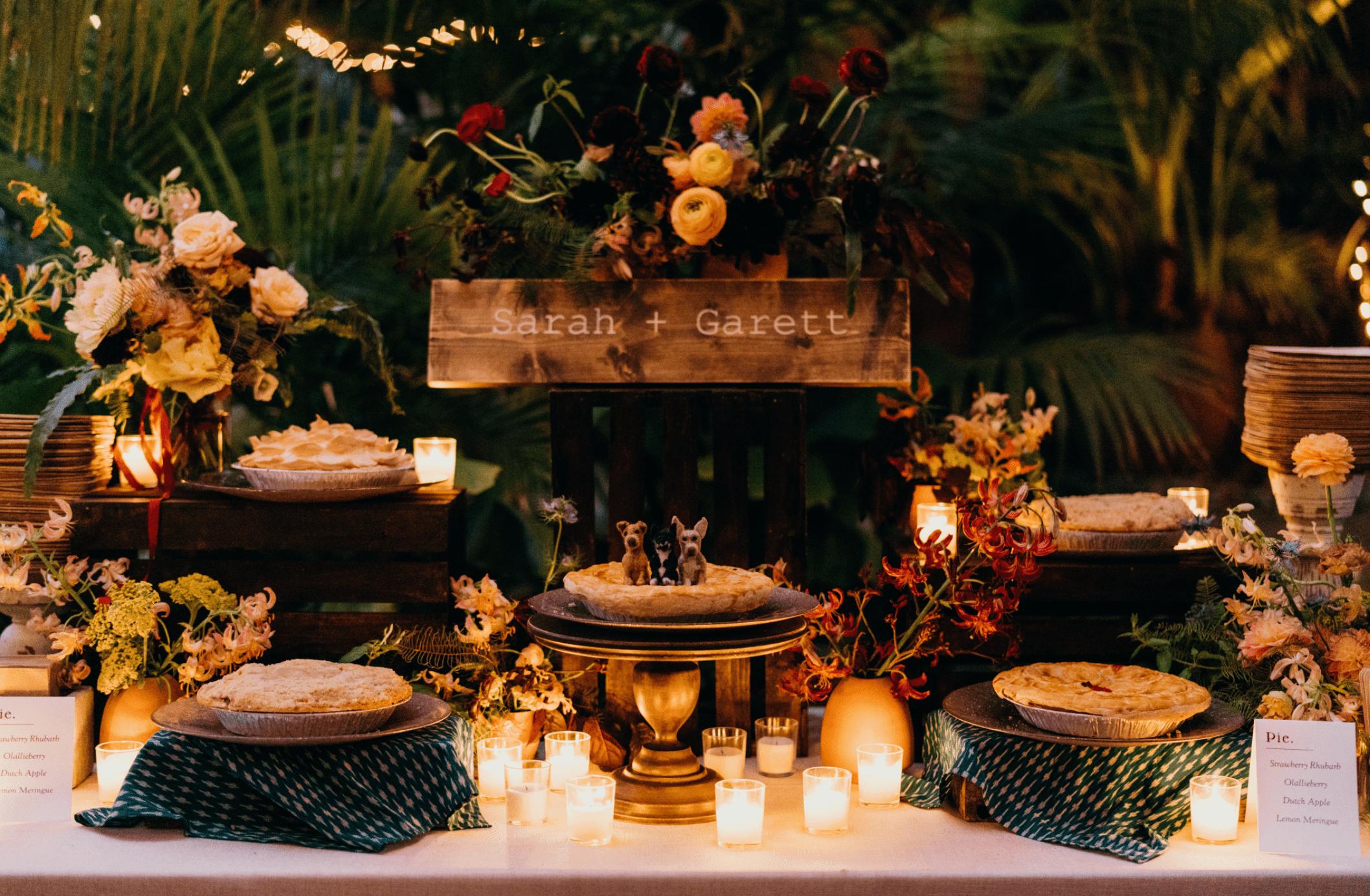 Pie dessert table