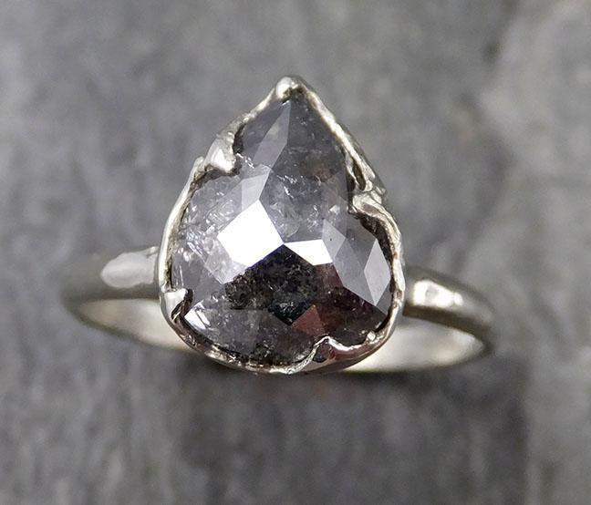 byAngeline Fancy Cut Salt and Pepper Diamond Solitaire Engagement Ring