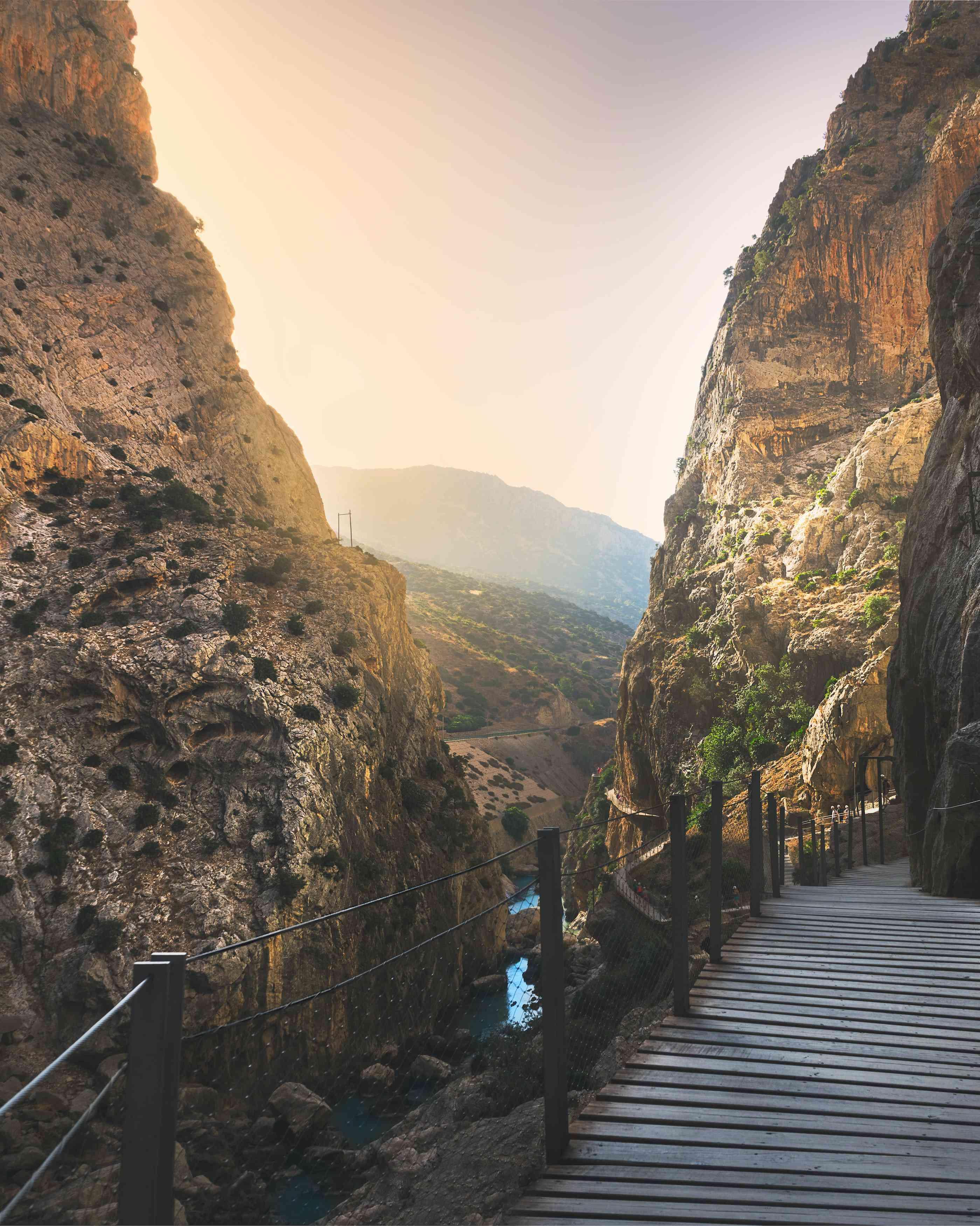 A hiking trail in Malaga Spain at dawn