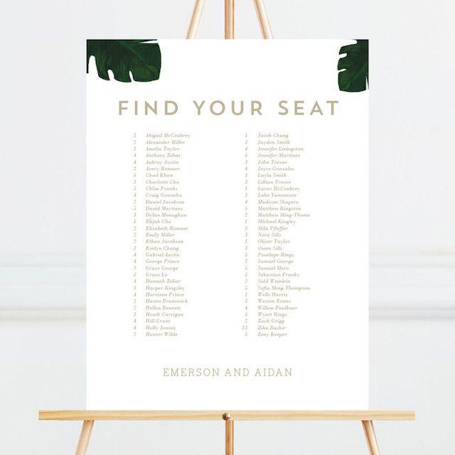 Palm Seating Chart