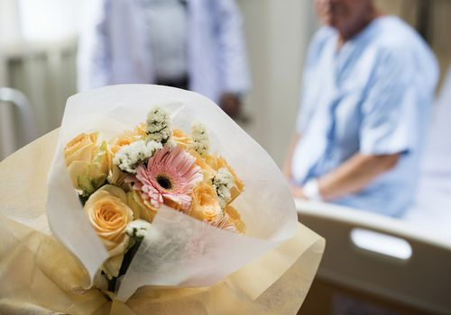 Donating wedding bouquet