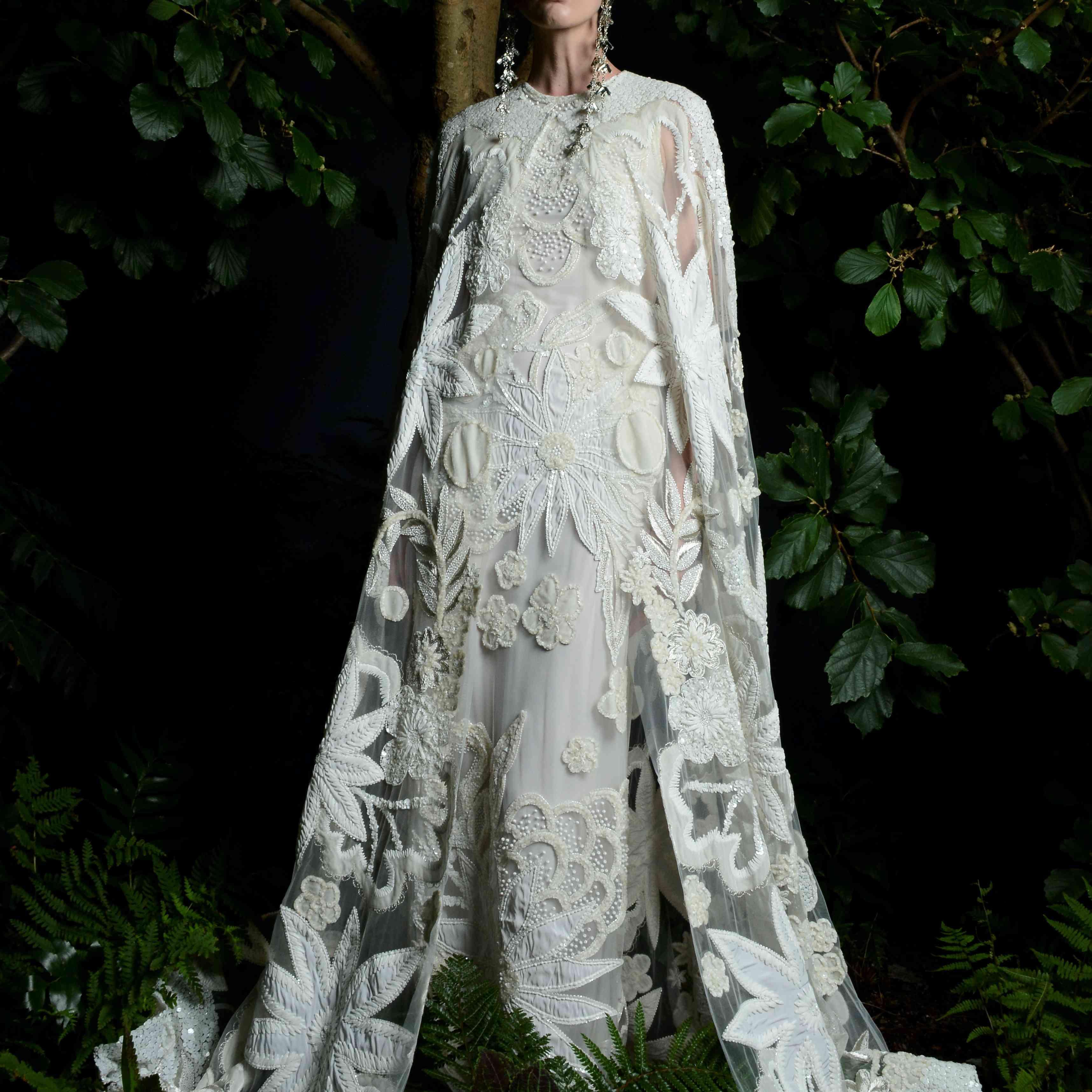tallulah cape and wedding dress naeem khan