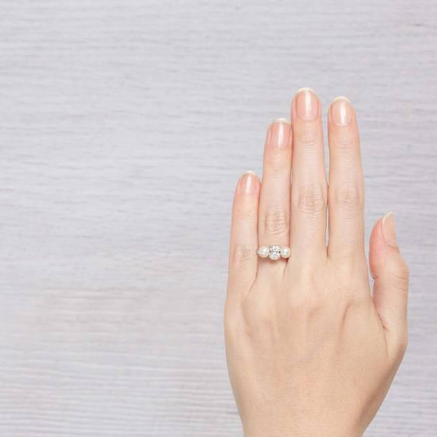 Pearl Wedding Rings.52 Polished Pearl Engagement Rings For The Timeless Bride