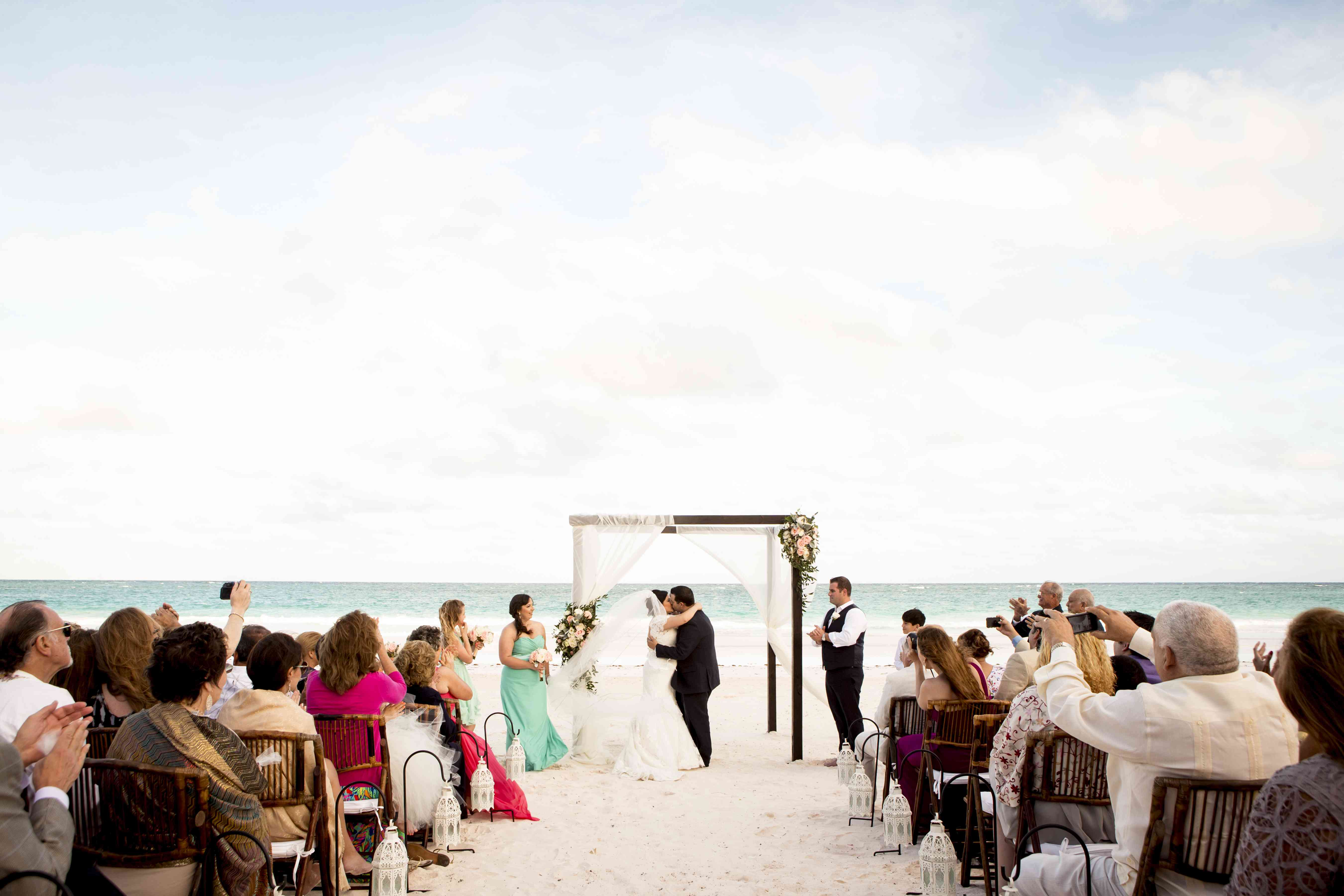 A destination wedding on the beach at Coral Sands Hotel, Harbour Island, Bahamas