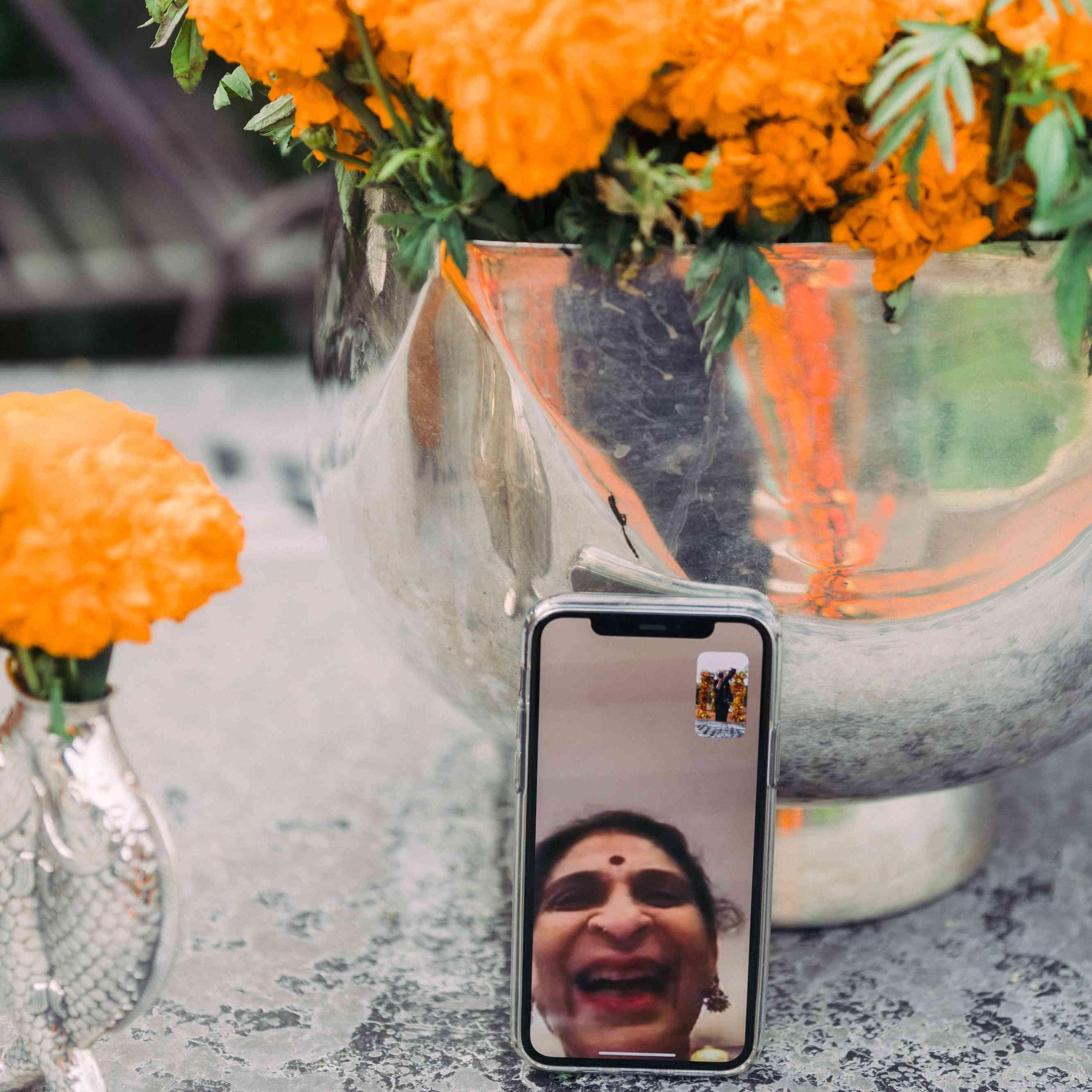 facetiming mother of groom
